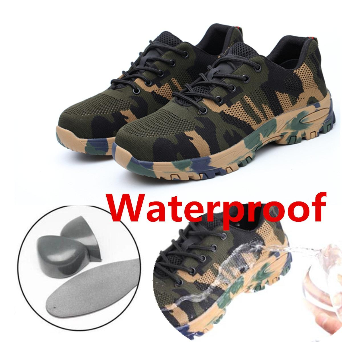 2020 New Fashion Steel Toe Sneakers Fiber Safety Shoes Breathable Steel Toe Work Shoes for Men - 10