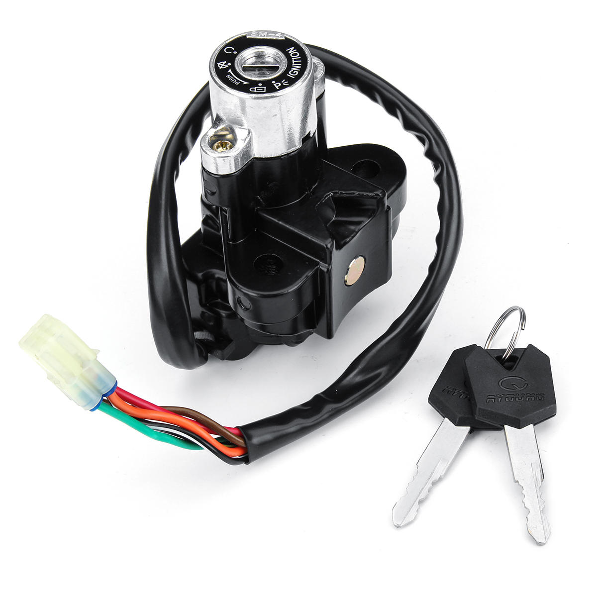 Ignition Starter Switch Lock With Keys For Suzuki GZ125 GZ250 GSF600 on ignition solenoid, ignition distributor, ignition diagram, ignition cable,