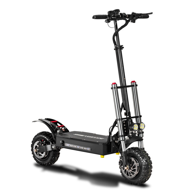 BOYUEDA 26AH 60V 5400W Dual Motor Folding Electric Scooter 11inch 85km/h Top Speed 110-130km Mileage Range Max Load 400kg