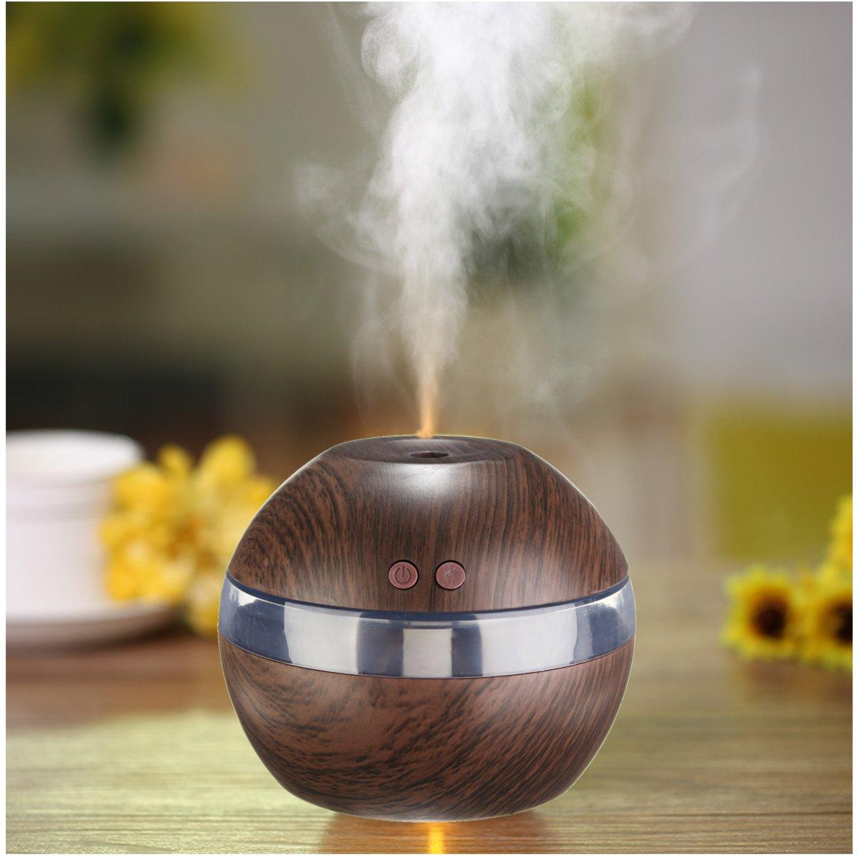 USB LED Ultrasonic Aroma Humidifier Oil Diffuser Air Mist Aromatherapy Purifier