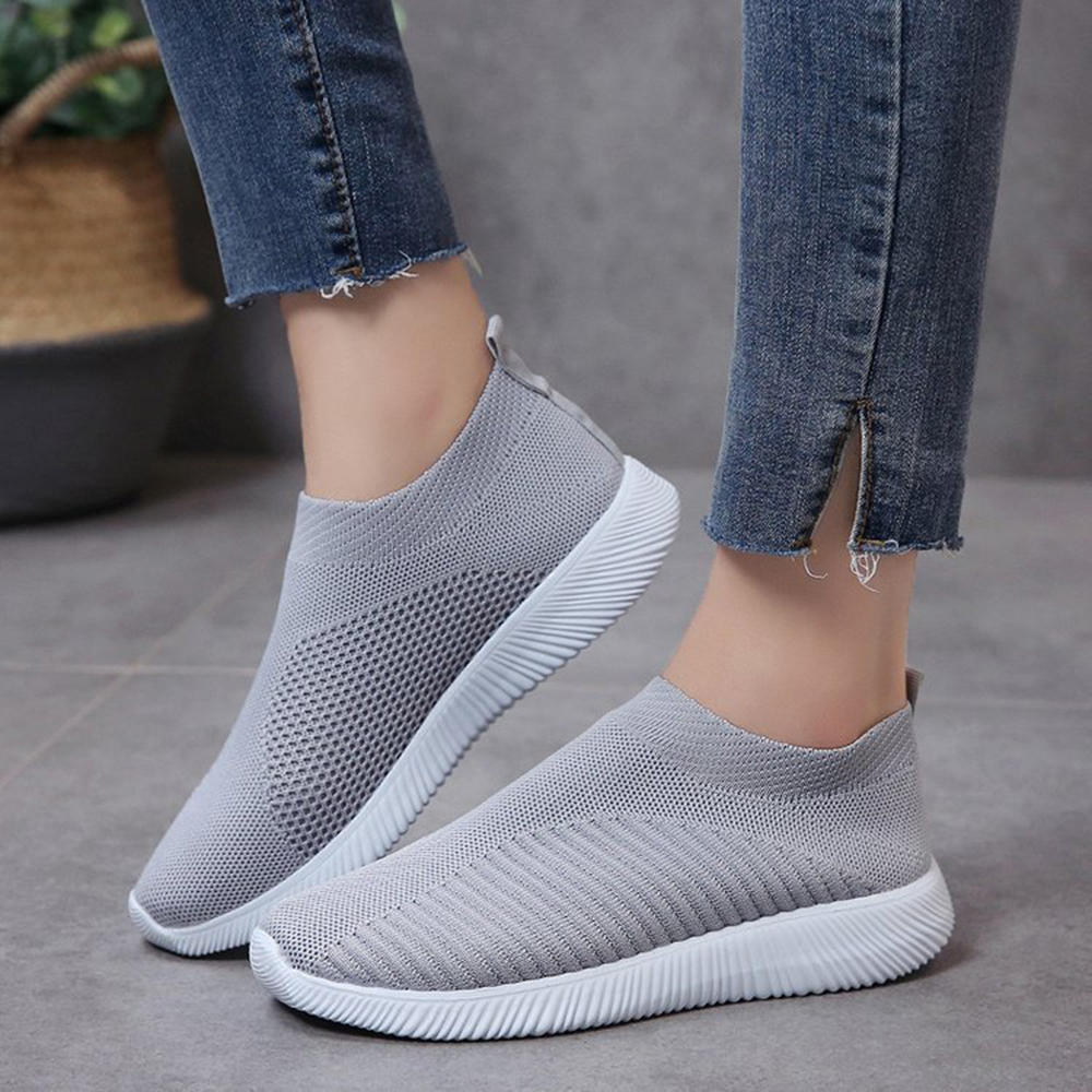 Women Mesh Breathable Slip On Soft Sole Casual Sneakers - 7