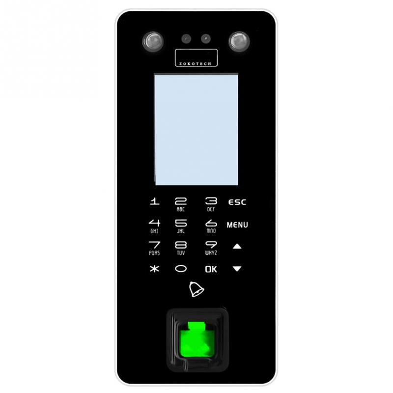 ZOKO ZK-FA50 HD Dual Cameras Fingerprint Face Access Control System 2 8  Inches Screen TFT Password Fingerprint Face Recognition Attendance Machine