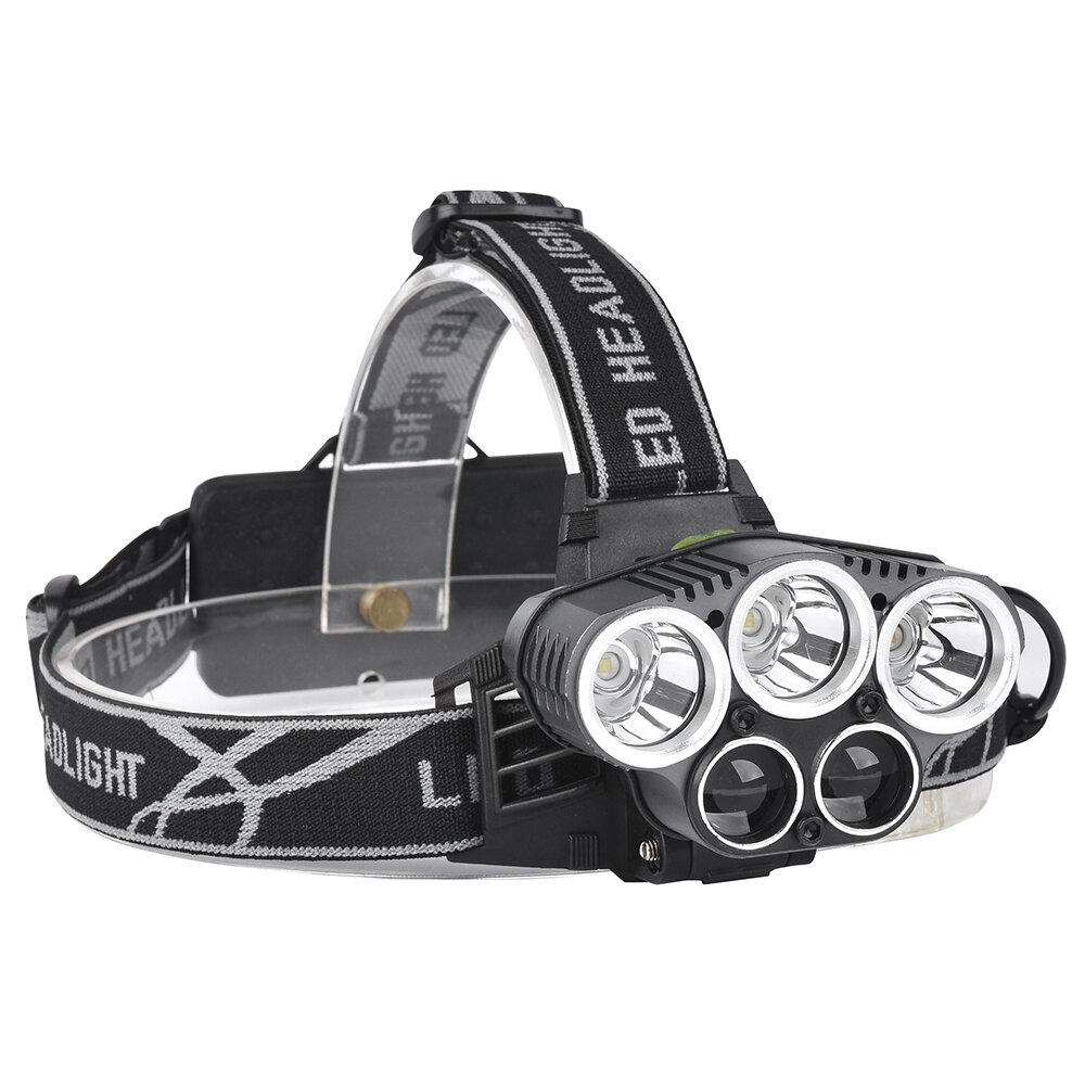 XANES 2309-B 1500 Lumens Bicycle Headlight 5 Switch Modes T6+2XPE Blue Light Outdoor Sports HeadLamp Adjustable Head Light
