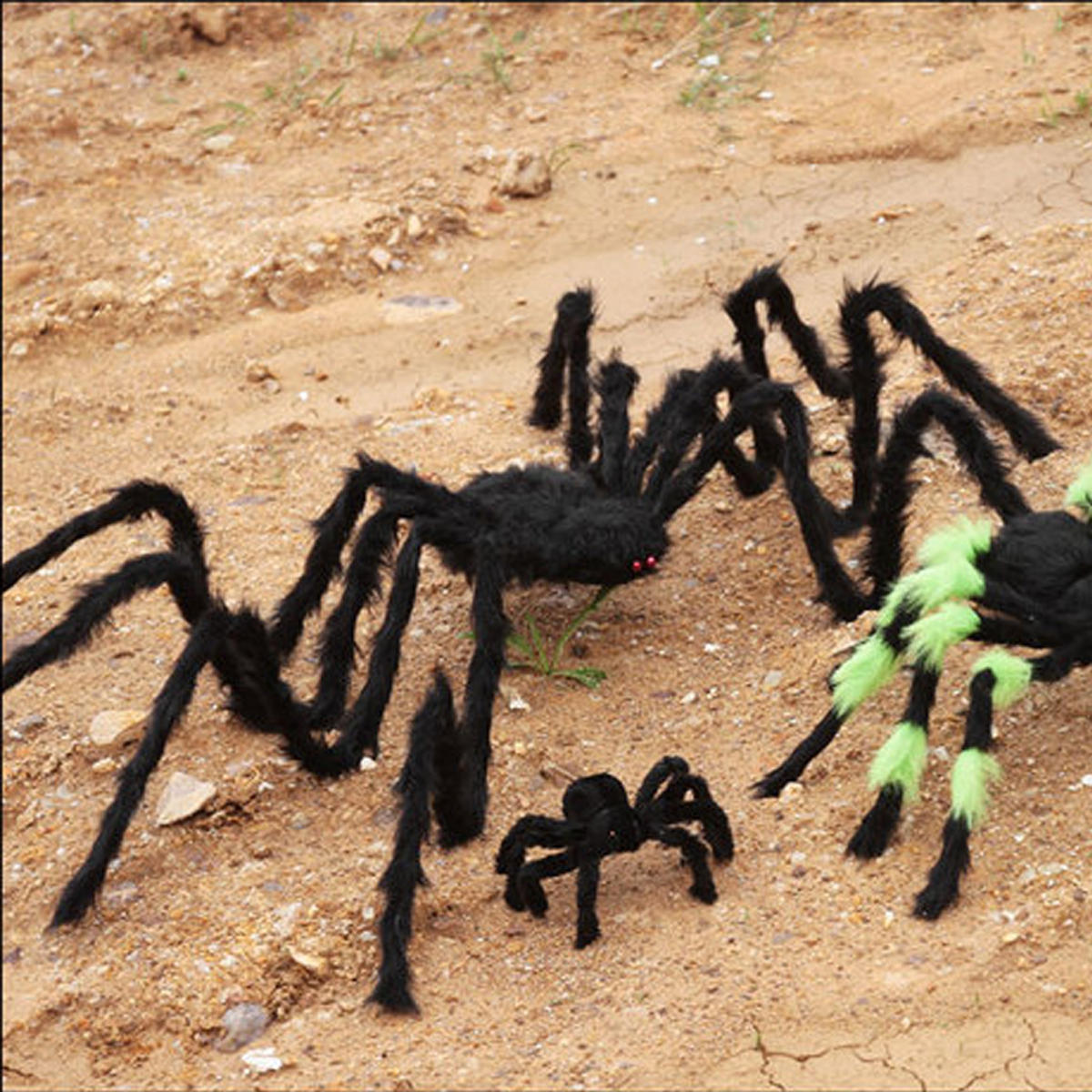 5FT/150cm Hairy Giant Spider Decorations Huge Halloween Outdoor Decor Toys for Party - 8