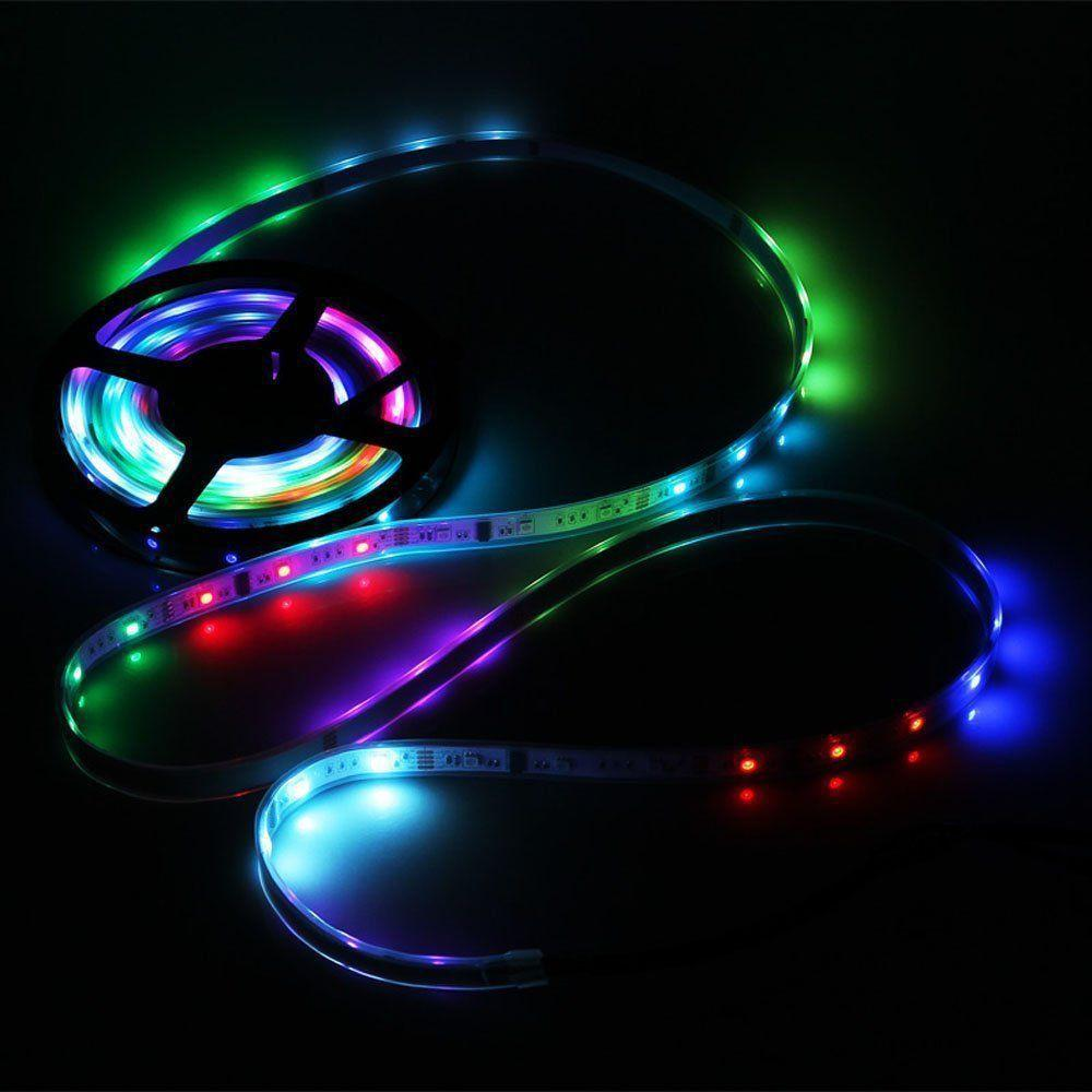 5M SMD5050 IC6803 RGB Remote Control Waterproof LED Strip Light+RF Controller+Power Adapter DC12V - 12