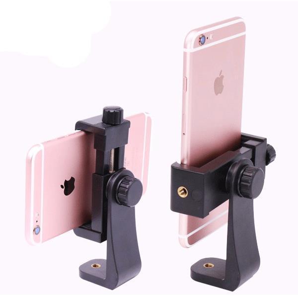 Ulanzi tripé montagem telefone celular clipper suporte braçadeira vertical adaptador de 360 graus