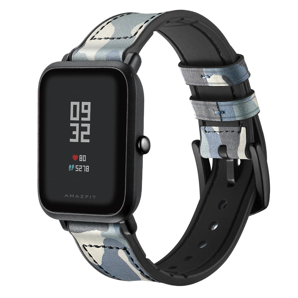 Xiaomi Amazfit Bip Smart Watch用のカモフラージュ模様のシリコンレザーウォッチバンドウォッチストラップ