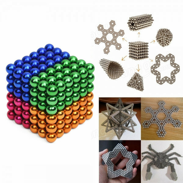 216 Pcs 5mm Colorful DIY Neo Magnet Cube Sihir Beads Balls Puzzle Mainan Magnet