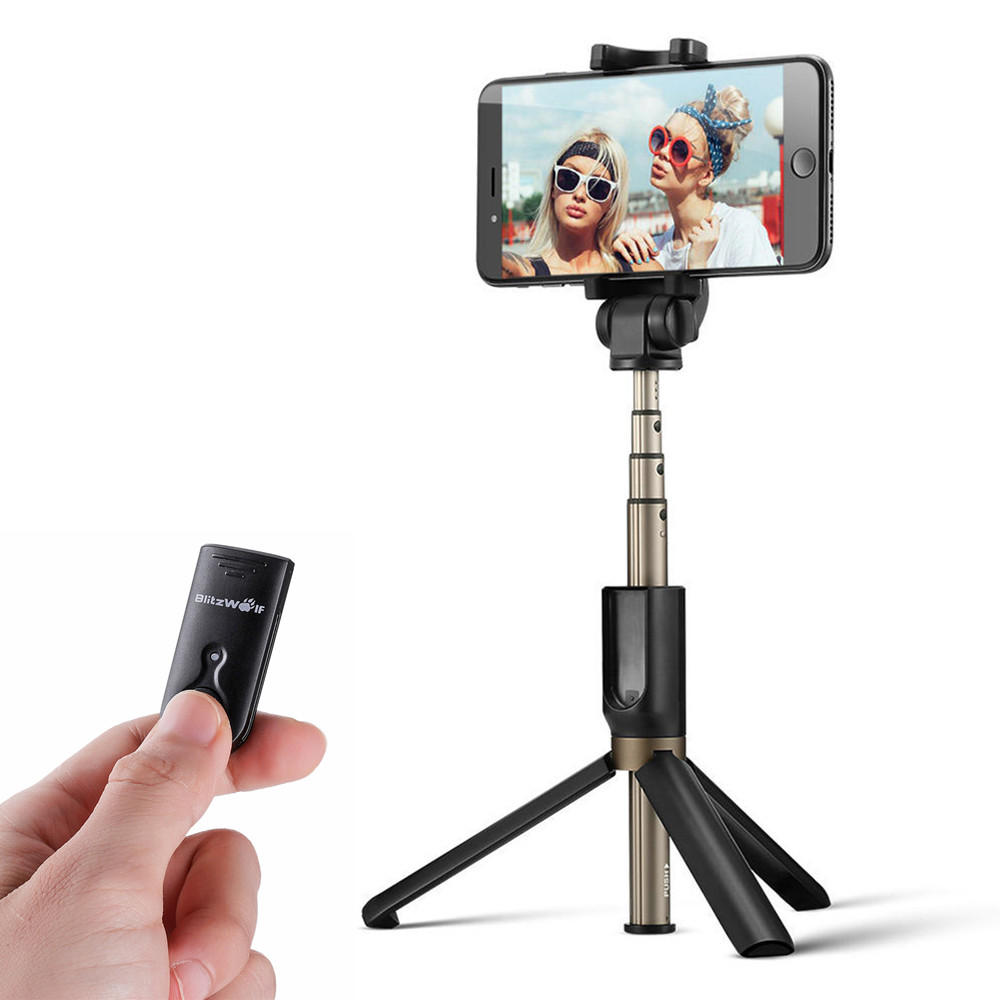 online store 23c4c 20821 BlitzWolf BW-BS3 Versatile 3 in 1 bluetooth Tripod Selfie Sticks for iphone  8 8 Plus iphone X