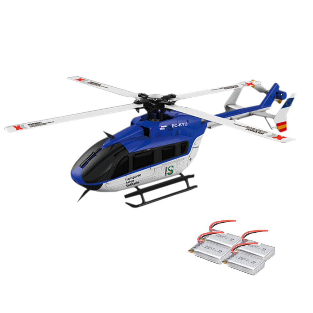 XK K123 6CH Brushless AS350 Scale RC Helicopter RTF Mode 2 - 2