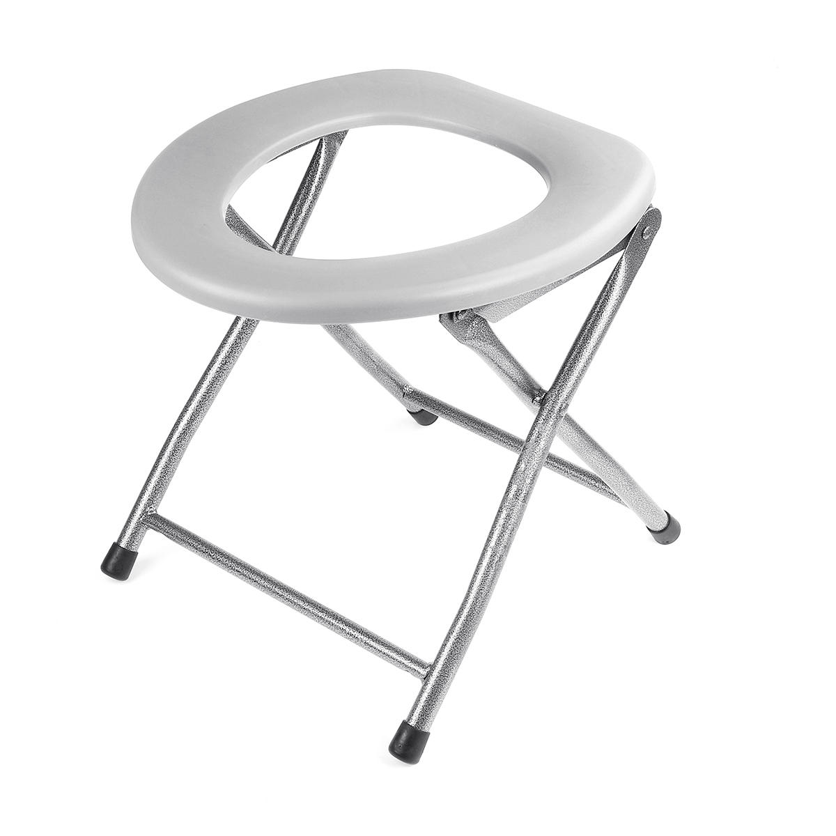 Folding Commode Portable Toilet Seat Porta Potty and Commode Chair - Comfort Chair Perfect for Camping, Hiking, Trips, Construction Sites