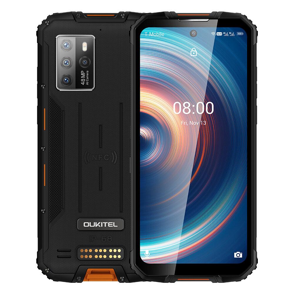 OUKITEL WP10 Global Bands 5G IP68&IP69K Waterproof 6.67 inch FHD+ NFC 8000mAh Android 10 8GB 128GB Dimensity 800 48MP Quad Rear Camera Rugged Smartphone