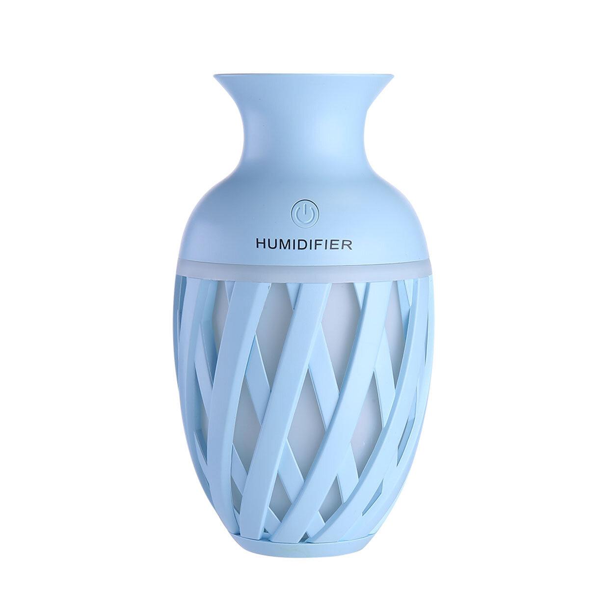 Florero ultrasónico fresco niebla fabricante humidificador nebulizador purificador de aire de luz nocturna para el dormitorio bebé regalo de cumpleaños