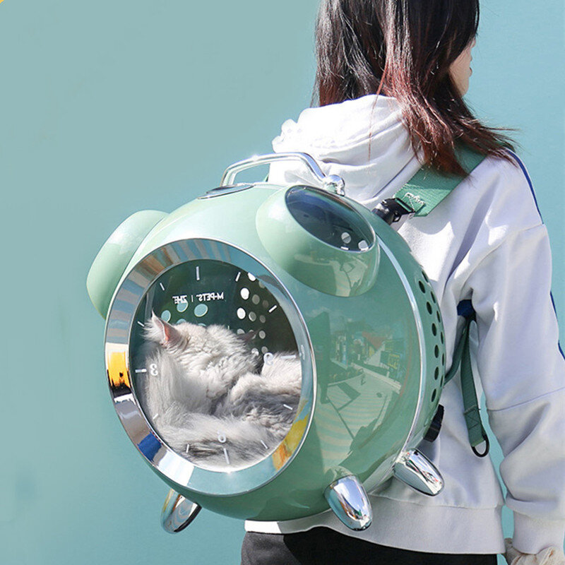 Alarm Clock Shape Cat Space Capsule Temperature and Humidity Reminder Patting Hole Porous and Breathable Suitable for Ca