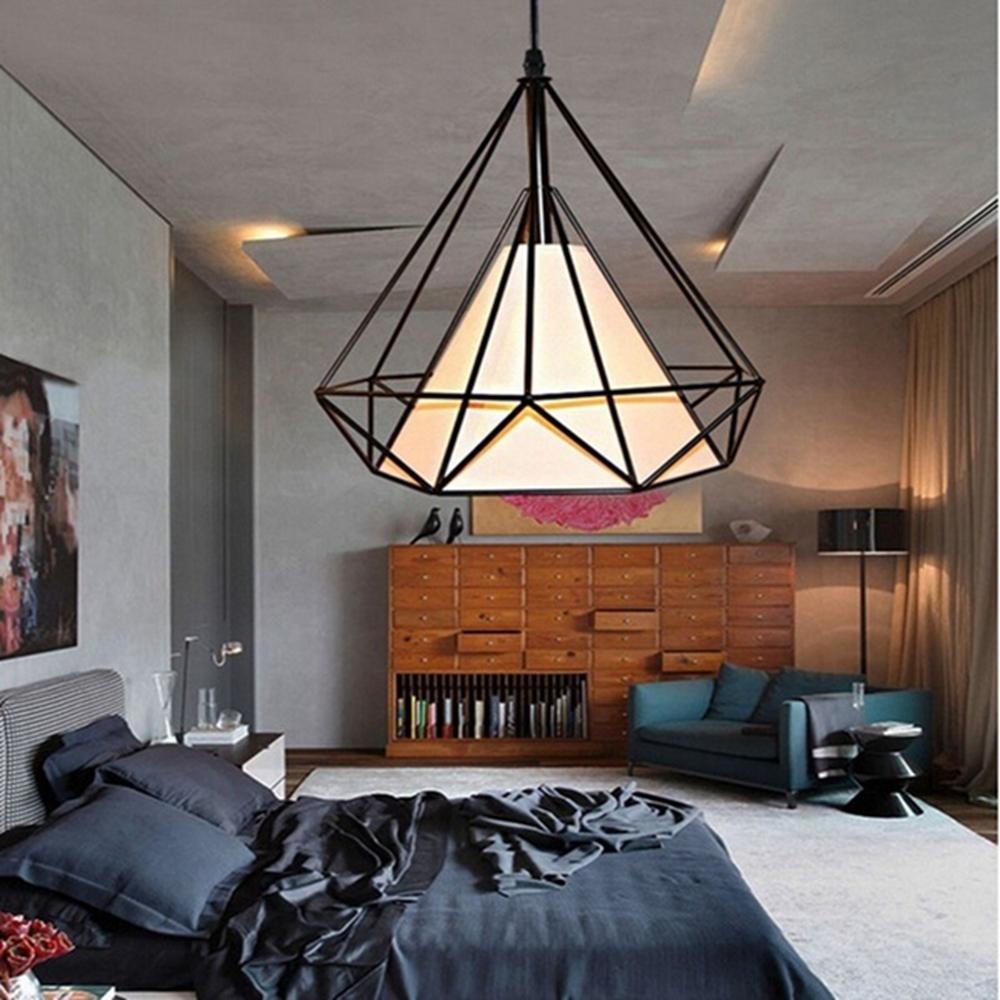 E27 Modern Industrial Vintage Cage Hanging Ceiling Pendelleuchte Halter Lampenschirm