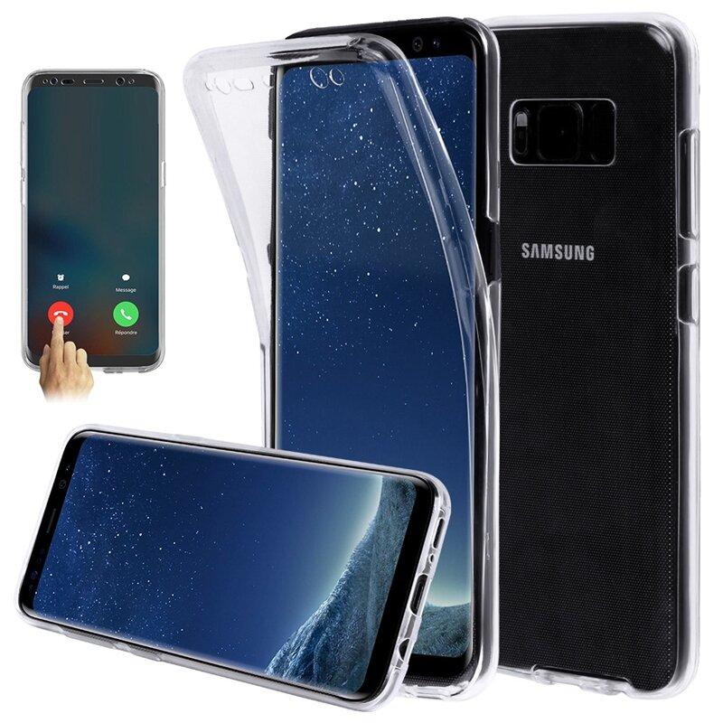 360 ° Передний и задний защитний чехол для Samsung S8 и для сенсорного экрана и  TPU прозрачная крышка  для Sams