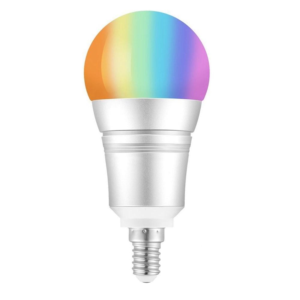 E27 E14 B22 9 W RGB + Branco Quente WI-FI LED Lâmpada Inteligente Trabalho com Alexa Controle de Voz AC110-255V