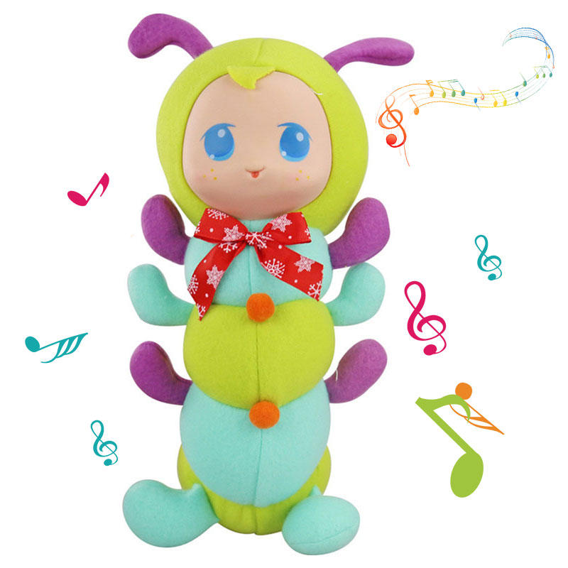Caterpillar Stuffed Bedtime Playmate Short Plush Toy Gift Decor Collection - 2