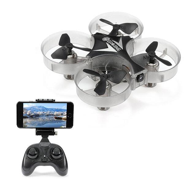Eachine E012HW WIFI Mini FPV Dengan Mode Altitude 2.4G 4CH 6 Axis RC Drone Quadcopter RTF