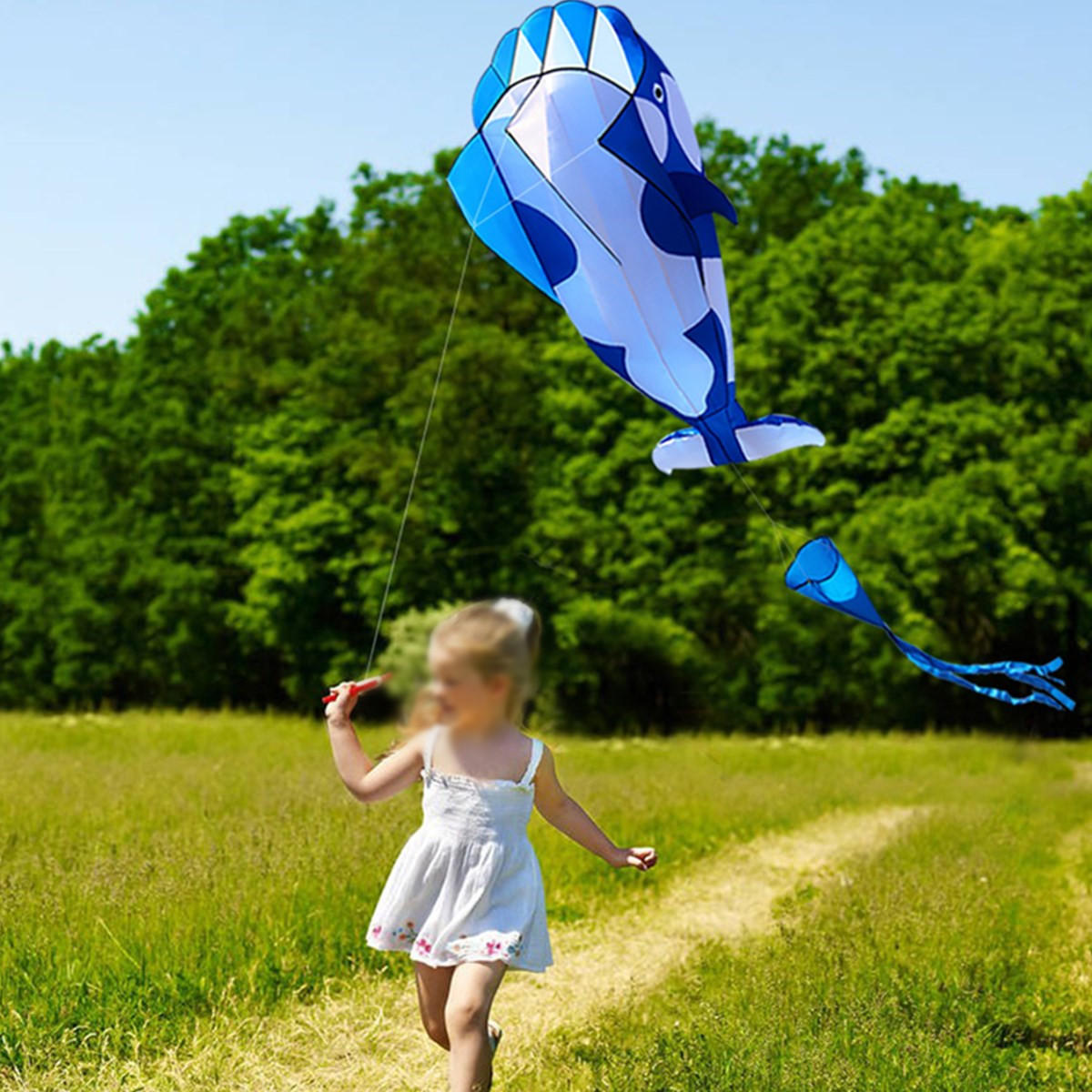 3D Colorful Flower Kite Single Line Outdoor sports Toy Light Wind Flying Kids - 6