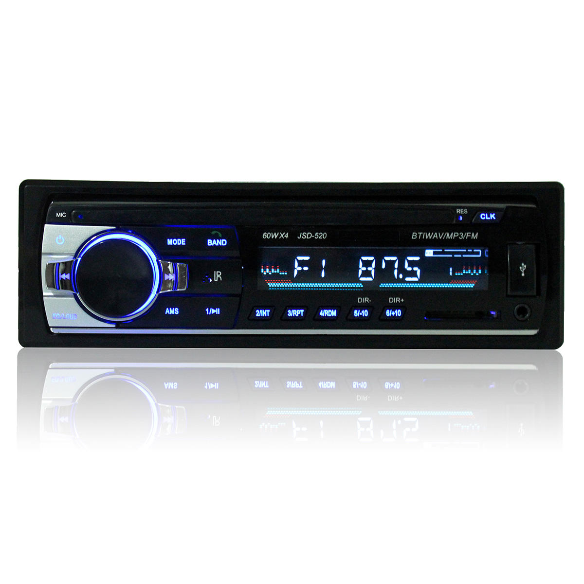 Car Audio Stereo MP3 Player bluetooth Stereo Radio FM AUX with Remote Control For iPhone X 8/8plus