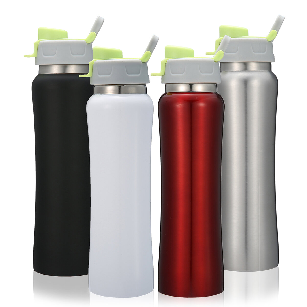 Insulated Stainless Steel Sports Water Bottle Leakproof 550ml Vacuum Thermos Cup