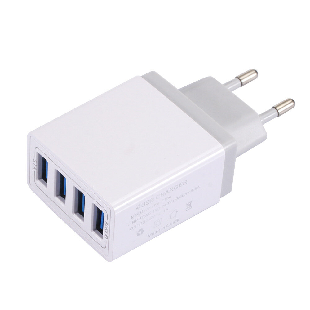5.1A 4 USB Port Fasting Charging Adapter Charger for iPhone XR XS Max Xiaomi Mi9 S9 Note9 S10