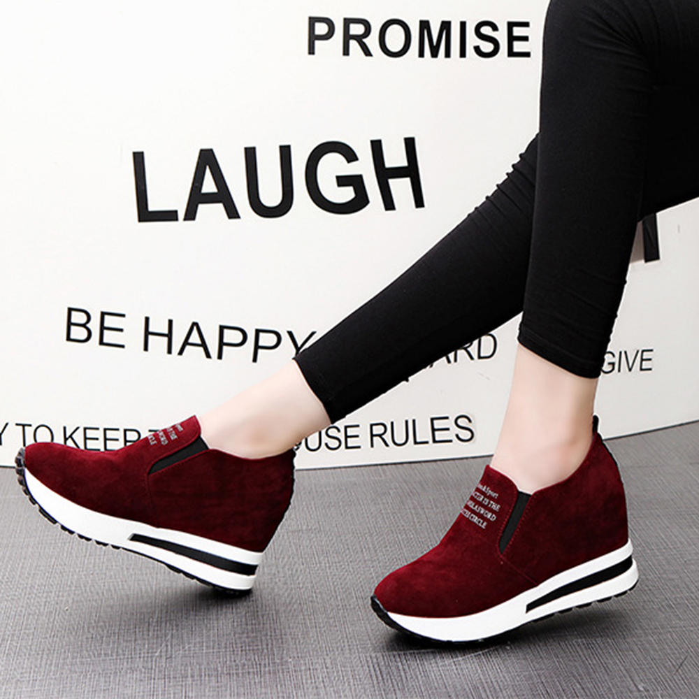 Women Slip Resistant Air Cushion Comfy Boots Sneakers - 7
