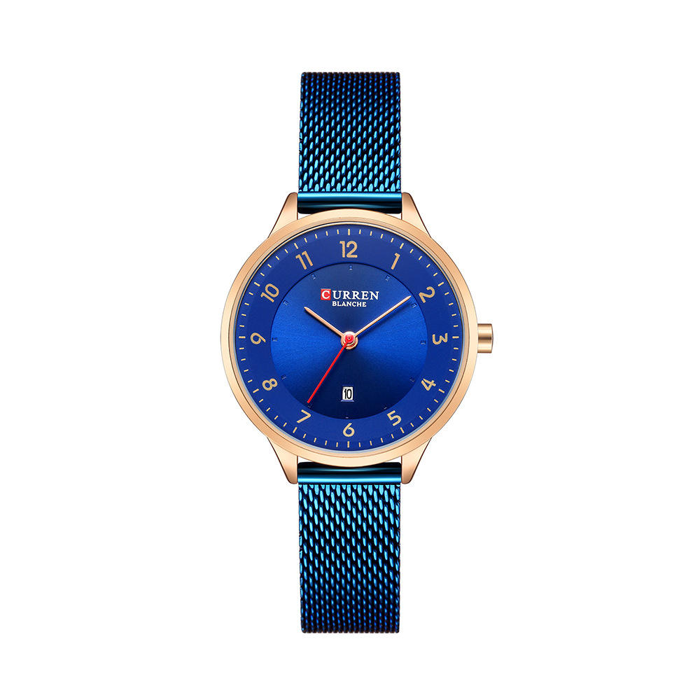 CURREN 9035 Date Display Simple Design Women Wrist Watch Full Steel Quartz Watch