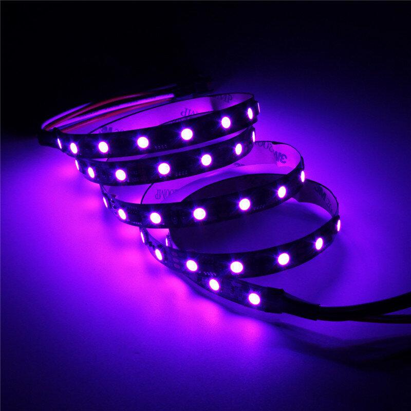 5M 90W 300SMD WS2812B LED RGB Colorful Strip Light Waterproof IP65 White/Black PCB DC5V - 3