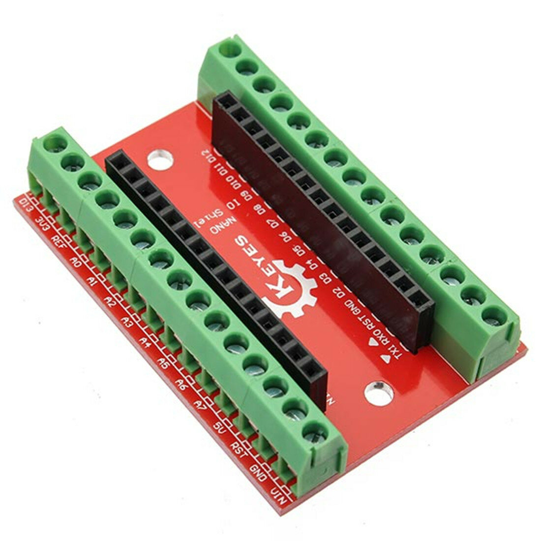 NANO IO Shield Expansion Board Geekcreit for Arduino - products that work with official Arduino boards