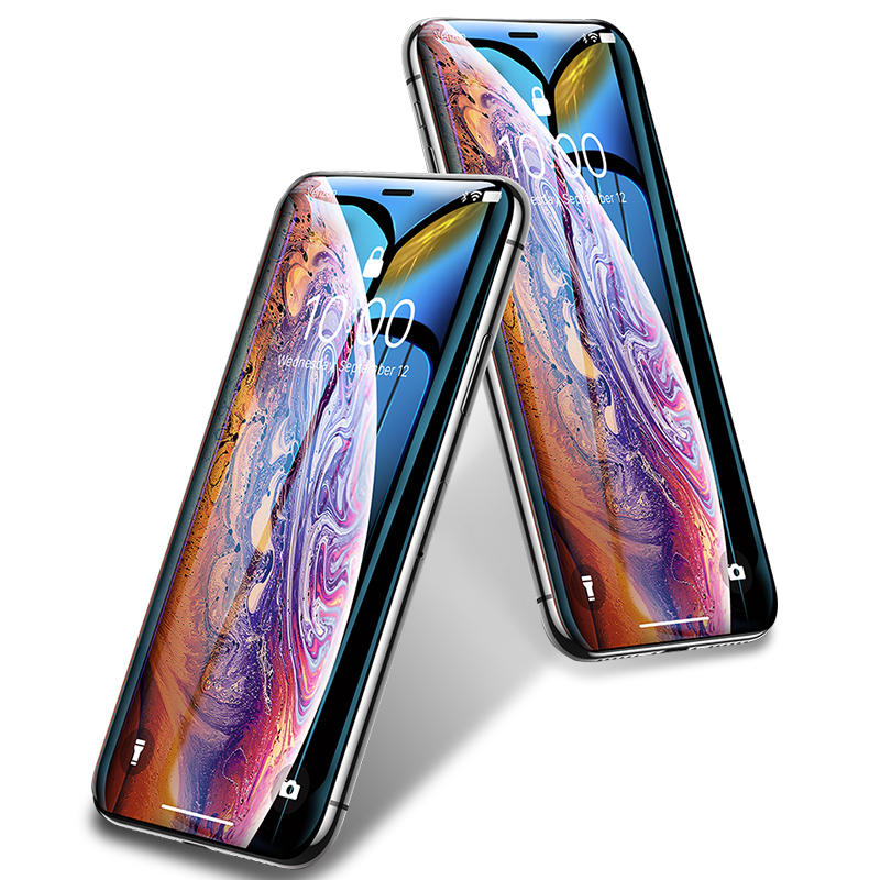 Bakeey 10D buet kant kald utskjæring ristebestandig herdet glass skjermbeskytter for iPhone XS Max / iPhone 11 Pro Max