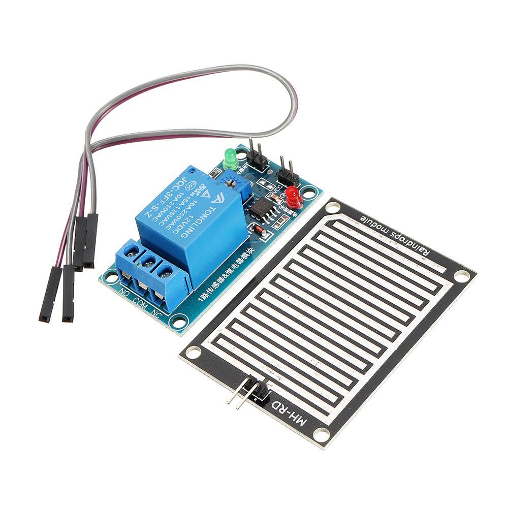 12V Raindrop Controller Relay Module Foliar Humidity Waterless Switch Rain Sensor For Arduino