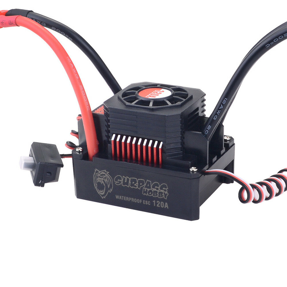 Hobbywing EzRun Max8 v3 150A Waterproof Brushless ESC T/TRX Plug+2200KV Motor For 1/8 RC Car Parts - 1