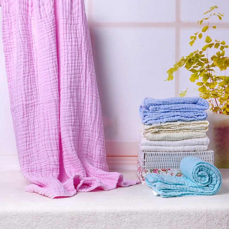 110*110cm Pure Cotton Women Baby Bath Towels Absorbent Water Office Car Blanket Home Bed Sheets - 1