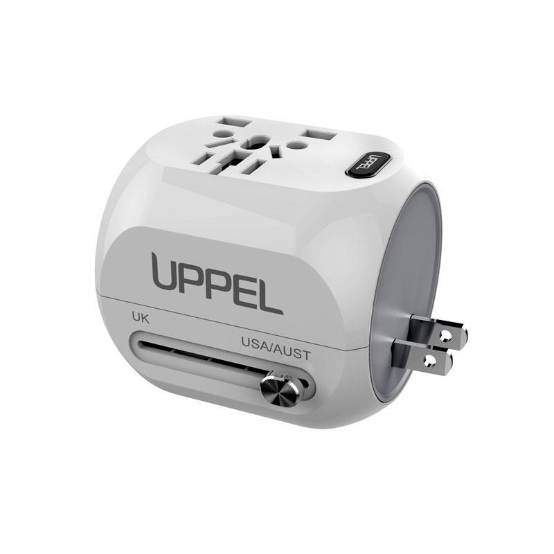 M168-9 QC3.0 Fast Charge Dual USB Travel Conversion Plug Multi-function Conversion Socket Travel Adapter