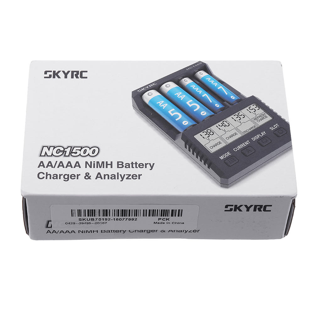 SKYRC NC1500 5V 2.1A 4 Slots LCD AA/AAA NiMH Battery Charger Discharger & Analyzer - 9