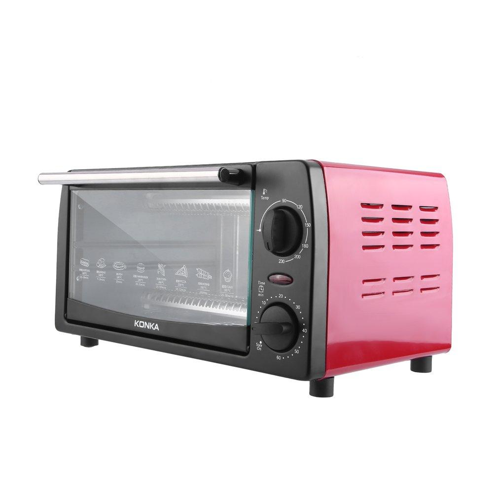 KONKA KAO-1202 1050W Electric Toaster Oven Home 12L Mini Baking Oven with Bakeware