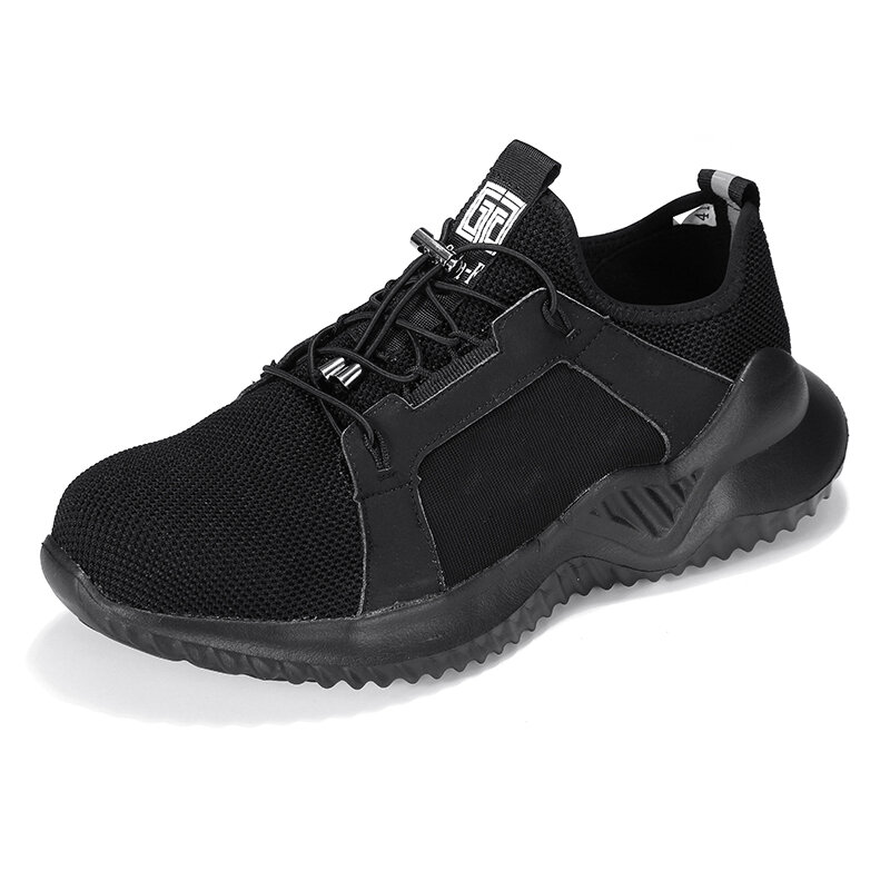 Men Steel Toe Lightweight Soft Sole Puncture Proof Safety Work Shoes