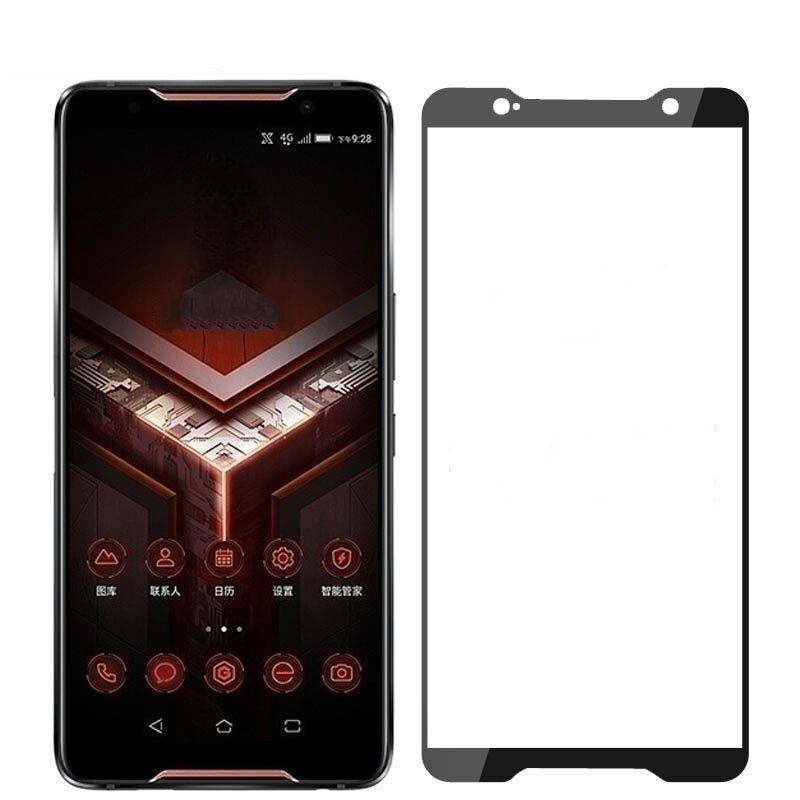 BAKEEY Anti-Explosion Full Cover Full Gule Tempered Glass Screen Protector for ASUS ROG Phone 2 ZS660KL
