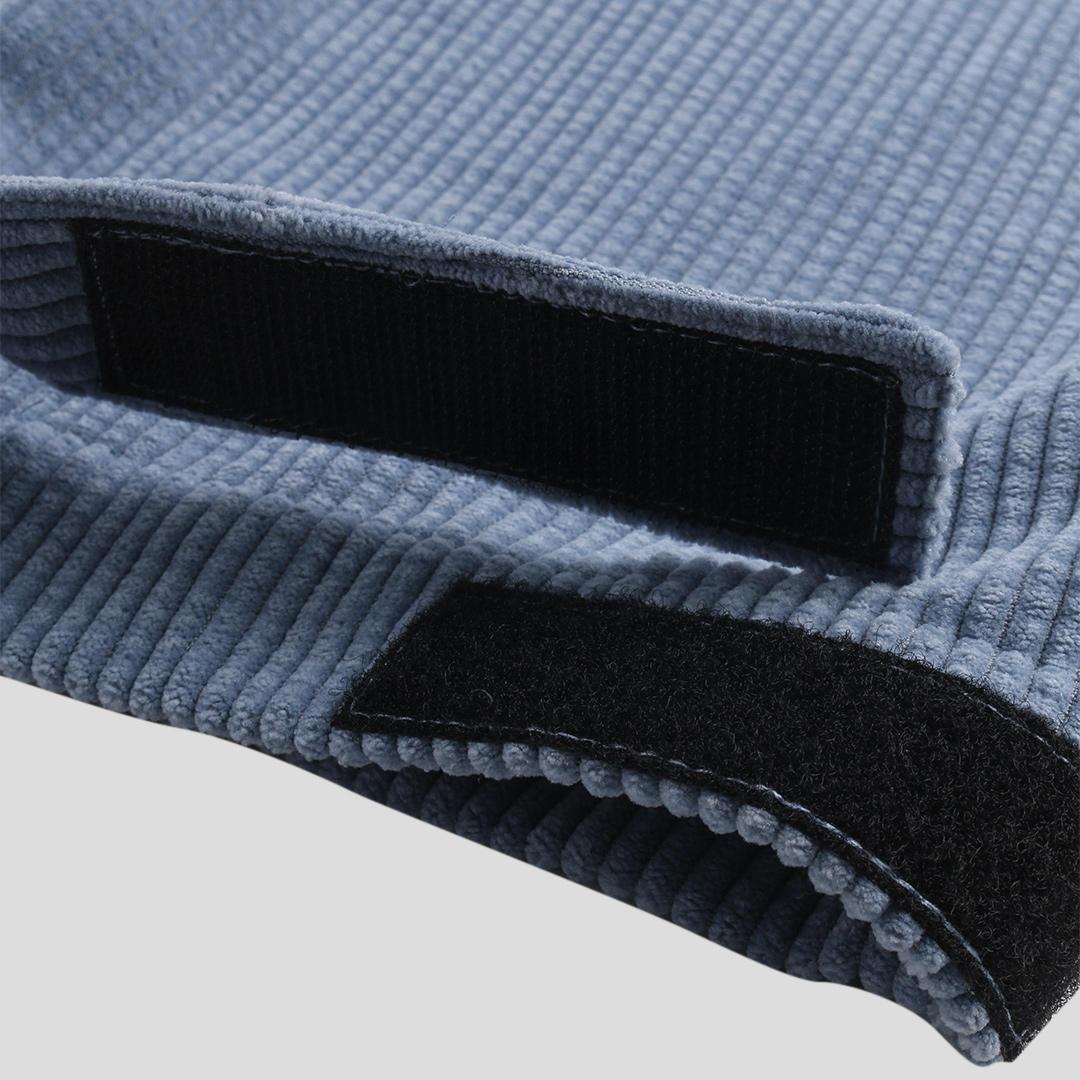 Mens Corduroy Vintage Pure Color Elastic Waist Casual Pants - 9
