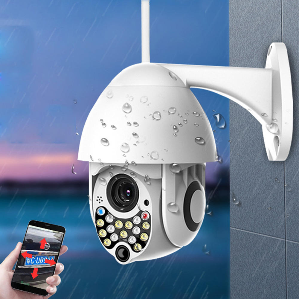 Bakeey 21 LED 5MP 1080P Dome Speed Camera Two-way Audio Full Color Night Vision IP66 Waterproof WiFi Home Security Monitor CCTV - 1