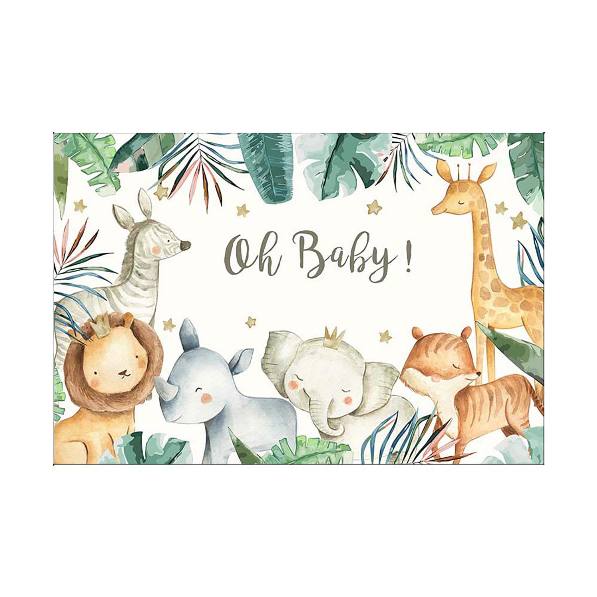 5x3FT 7x5FT Jungle Shower Oh Baby Theme Photography Backdrop Studio Prop Background