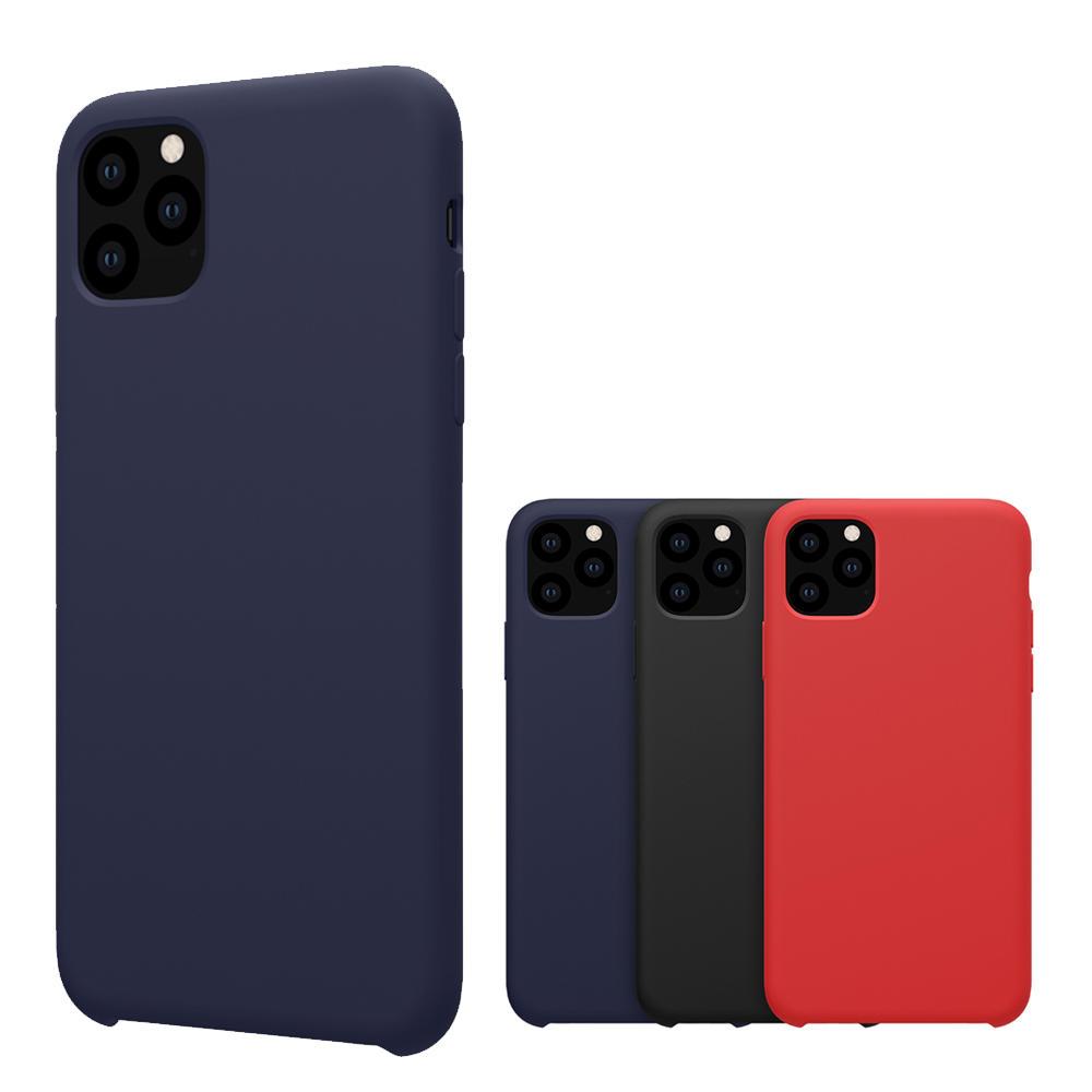 NILLKIN glatt støtsikker Soft flytende silikon gummi bakdeksel beskyttelsesetui til iPhone 11 Pro max 6,5 tommer