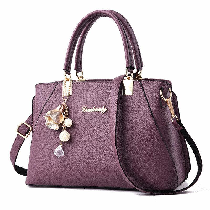 Fashion Women Lady Flannel Handbag Shoulder Bag Crossbody Messenger Tote Purse - 1