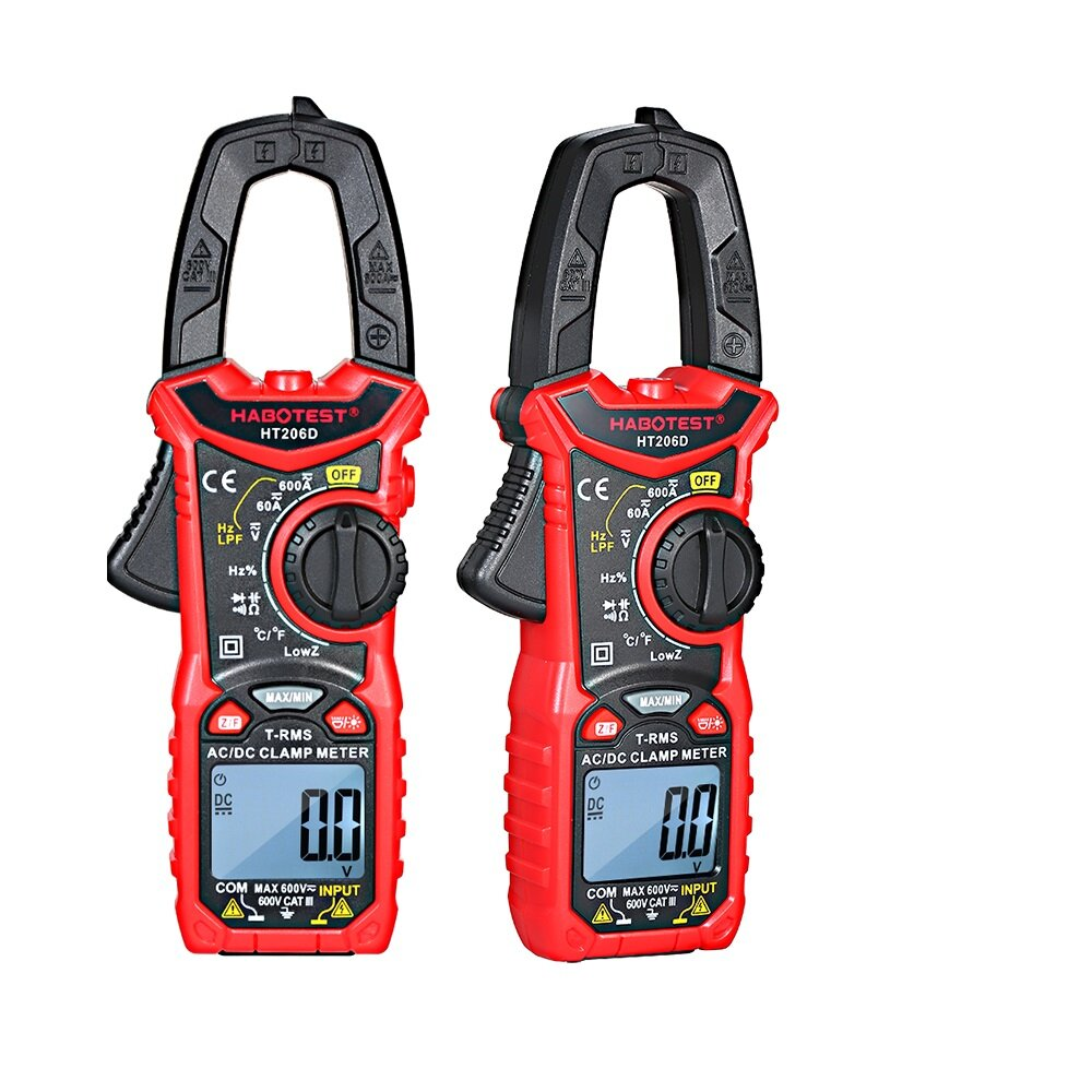 HT206A/HT206B/HT206D AC/DC Digital Clamp Meter for Measuring AC/DC Voltage , AC/DC Current, NCV Clamp Multimeter фото