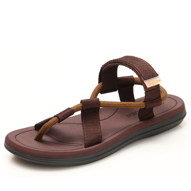 Men Cowhide Spicing Breathable Hollow Out Non-slip Casual Sandals - 8