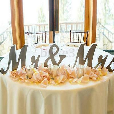 Mr & Mrs Shining Free Standing Letter Sign Table Large Wooden Wedding Decorations