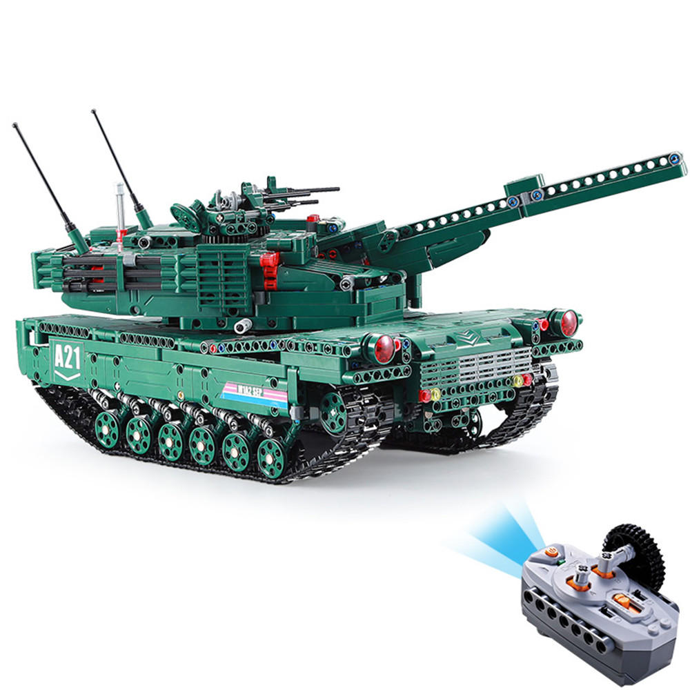 ToogLi 1/24 27MHZ 40CM US M1A2 RC Car Tank With Light Sound Military Vehicle Model Toys - 10