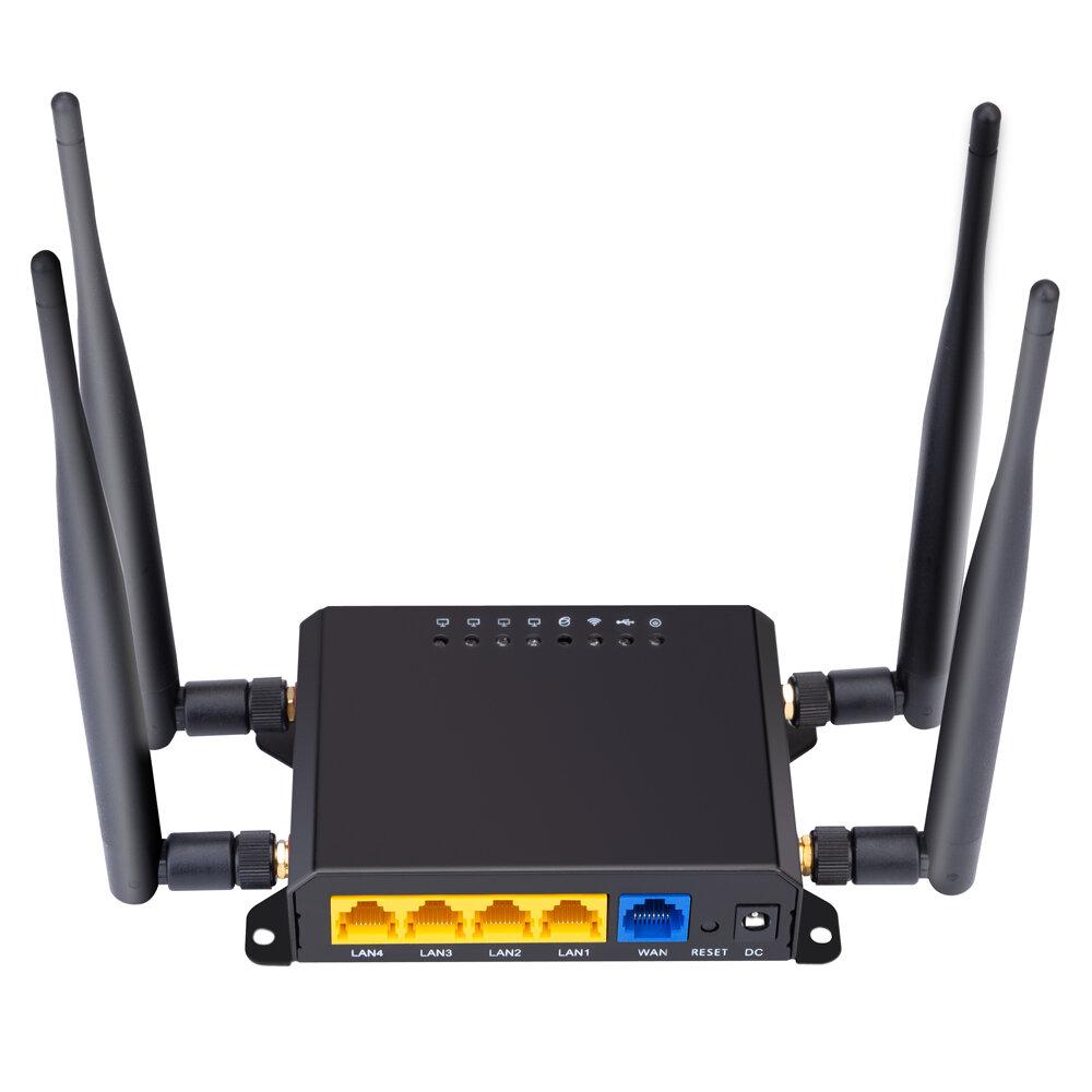 Frequência X10 Europa e Ásia Pacofic Austrália Versão 4G LTE OPEN WRT Roteador inteligente CPE Cartão SIM Modem sem fio WiFi Roteador sem fio Roteador sem fio Rede WiFi 300Mbps Suporte AP sem fio